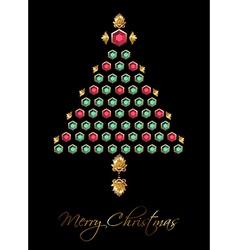 Diamond Christmas Tree vector image