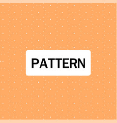 dots circle pattern orange background image vector image