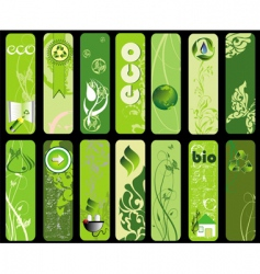ecology banners vector image