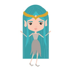 elf princess fantastic characters on white vector image