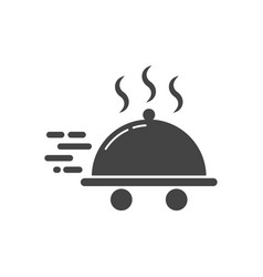 food delivery icon food delivery logotype vector image