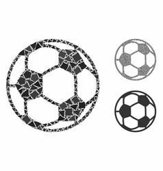 football ball mosaic icon rough parts vector image