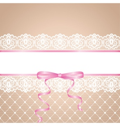 garter and stocking of bride vector image