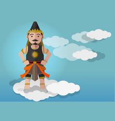Gatutkaca puppet characters vector