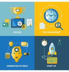 Generation of ideas start up time management vector image