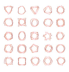 geometrical frames abstract polygonal shapes vector image