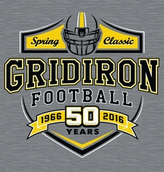 Gridiron football t-shirt graphic design vector