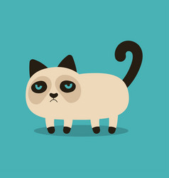 grumpy cartoon cat vector image