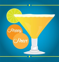 Happy hour vector image