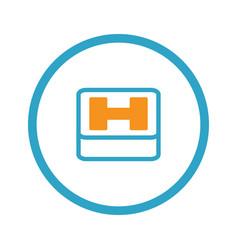 Hospital symbol flat design vector