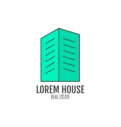 house logo design real estate icon vector image
