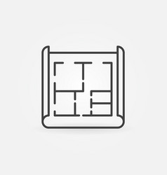 House plan icon vector