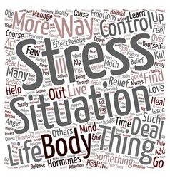 How You Can Find Stress Relief text background vector image