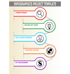infographic project template abstract with vector image