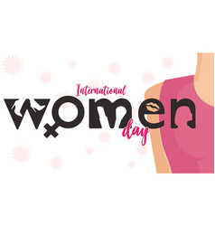 international women day banner graphic vector image