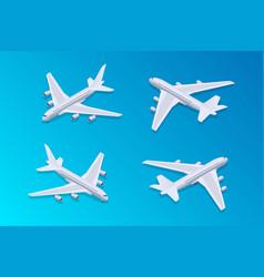 isometric passenger airplane 02 vector image