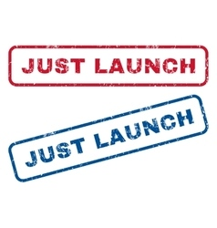 Just Launch Rubber Stamps vector
