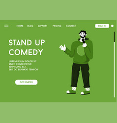 Landing page stand up comedy concept vector