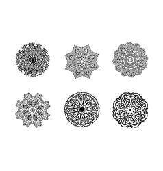 Mandala round ornament Vintage decorative element vector image