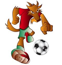 Mascot playing football vector