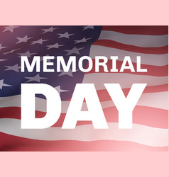 memorial day poster with flag of united states vector image