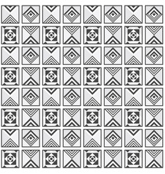Modern black and white geometrical tile pattern vector