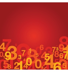 Number background red vector