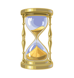 old gold hourglass time concept vector image
