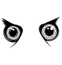 owl eyes animal isolated vector image