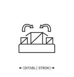 Packing line icon editable vector
