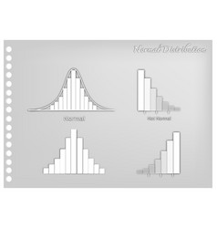 Paper art of normal and not normal distribution cu vector