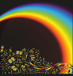 pattern on the background with a rainbow vector image