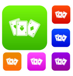 playing cards set collection vector image