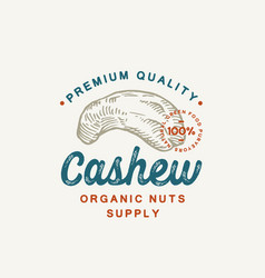 premium quality cashew abstract sign vector image