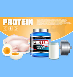 Protein products advertising template vector