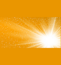Rays yellow background gold sunny sky heat vector