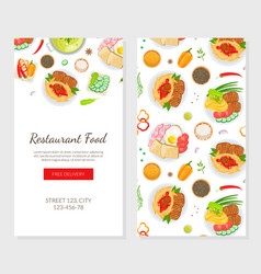 restaurant food landing page template healthy vector image