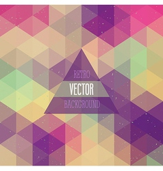 Retro background with triangles vector image