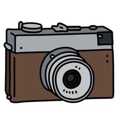 Retro simple photographic camera vector