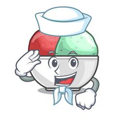 sailor sorbet ice cream in cup cartoon vector image