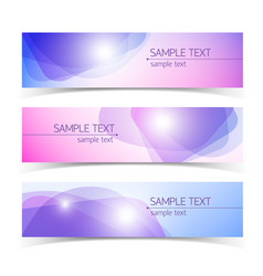 science abstract banners vector image
