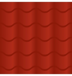 Seamless Red Roof Tile vector image
