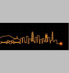 shenzhen light streak skyline vector image