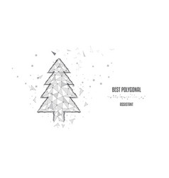 silhouette gray monochrome christmas tree from vector image