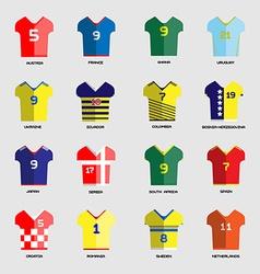 Soccer club Team Wear set vector