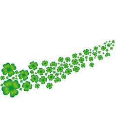 St patrick day shamrock leaves background vector