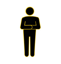 Stand up man icon vector