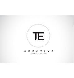 Te t e logo design with black and white creative vector