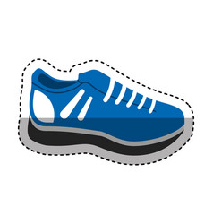 Tennis shoes isolated icon vector