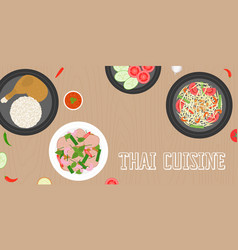 thai cuisine papaya salad vector image